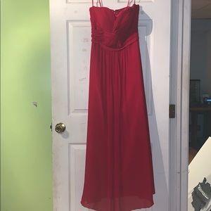 Long red prom dress❤️